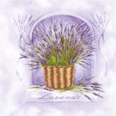 Lavender Basket Luncheon Napkins