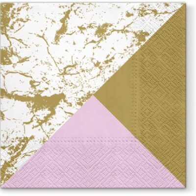 Marble Style Luncheon Napkins