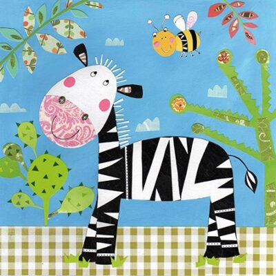 Happy Zebra Luncheon Napkins