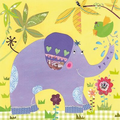 Happy Elephant Luncheon Napkins