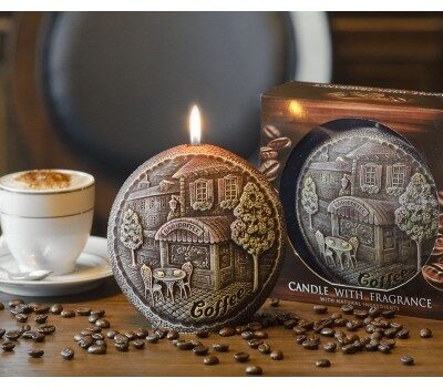 Scented Disk Candle Coffee