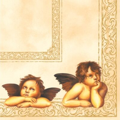 Twisted Raphael Angels Luncheon Napkins