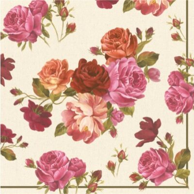 Catherine Roses Luncheon Napkins