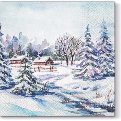 Winter Village Luncheon Napkins