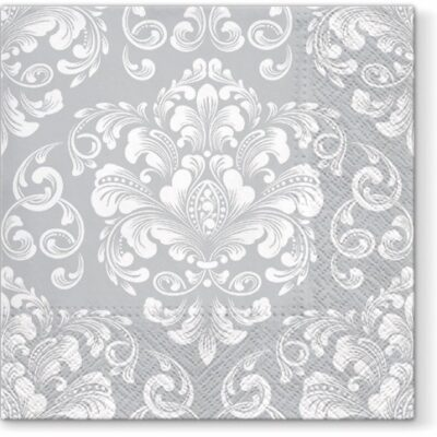 Wedding Pattern Silver Luncheon Napkins