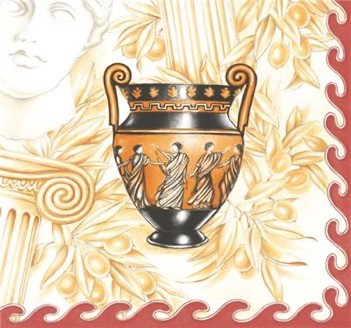Greek Ancient Vases Luncheon Napkins