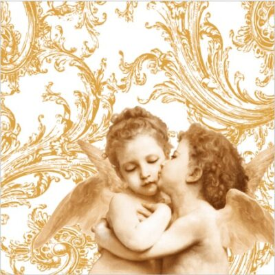 Sweet Angels Gold Luncheon Napkins