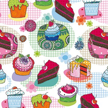 Cakes & Muffins Luncheon Napkins