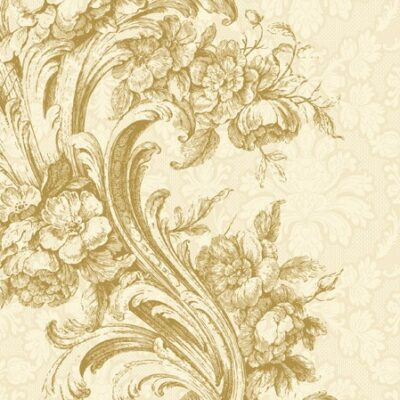 Baroque Style Gold Luncheon Napkins
