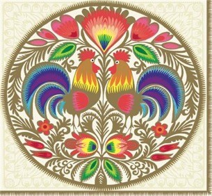 Lowicz Round Cutout Gold Luncheon Napkins