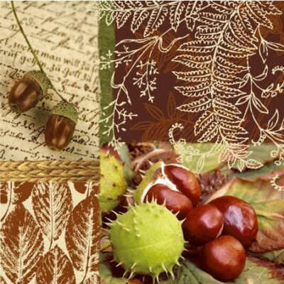 Chestnuts and Acorns Luncheon Napkins