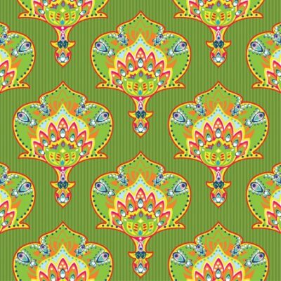 India Style Green Luncheon Napkins
