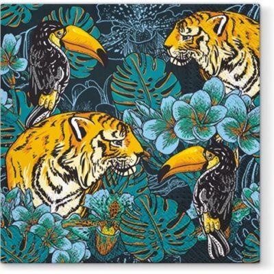 Wild Nature Tiger Luncheon Napkins