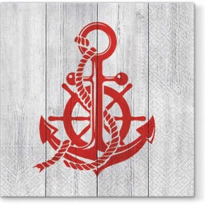 Red Anchor Luncheon Napkins