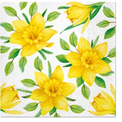 Daffodils in Bloom Cocktail Napkins