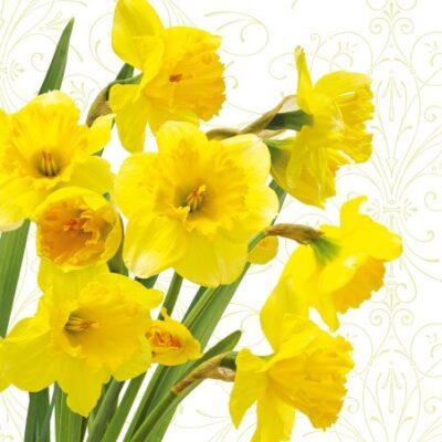 Yellow Daffodils Luncheon Napkins