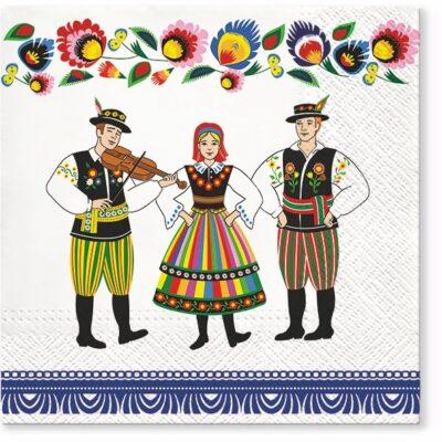 Polish Folk Music Band Luncheon Napkins