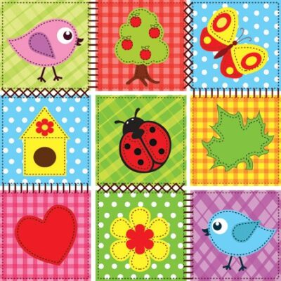 Children's Pattern Luncheon Napkins