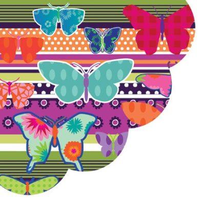 Butterflies Round Napkins