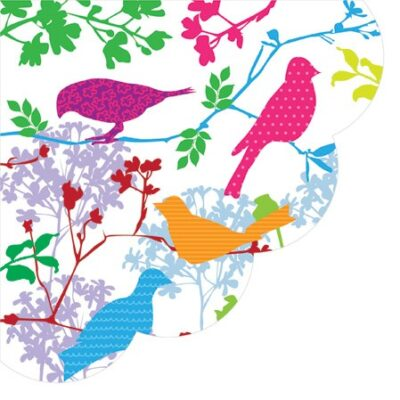 Colorful Birds Round Napkins