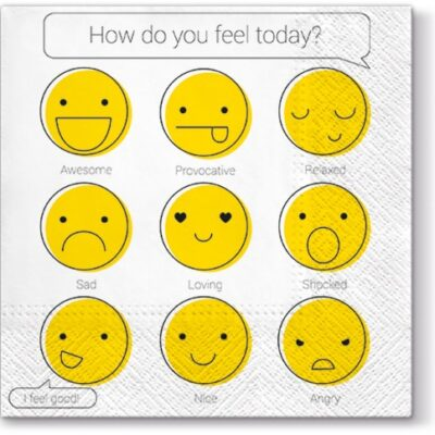 How do you feel?  Luncheon Napkins