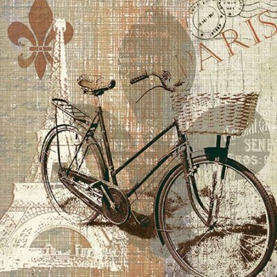 My Old Fashioned Bike Luncheon Napkins