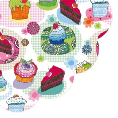 Cakes & Muffins Round Napkins