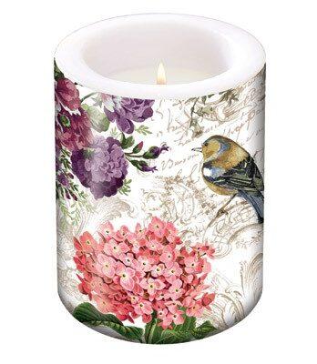 Pillar Candle Charming Garden