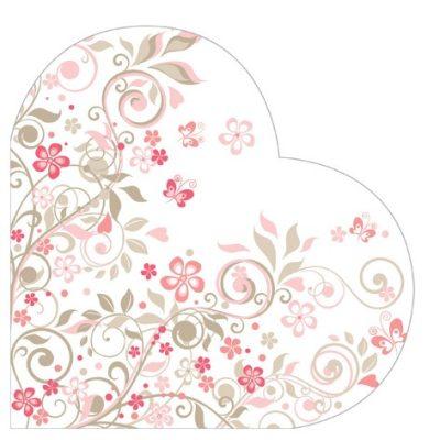 Butterflies Garden Heart Napkins