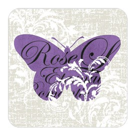 Romantic Butterflies Cork Coasters