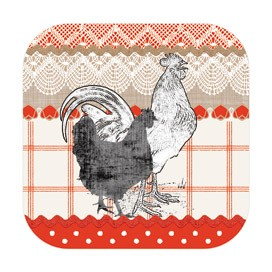 Red Rooster Cork Coasters