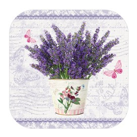 Flowering Lavender Cork Coasters
