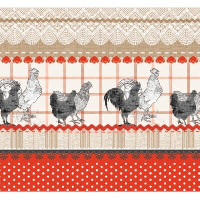 Red Roosters Cork Placemats
