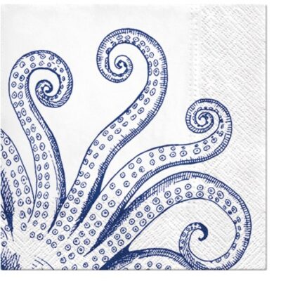 Blue Octopus Luncheon Napkins