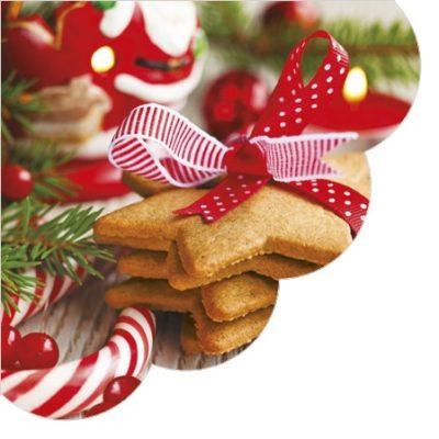 Christmas Cookies Round Napkins