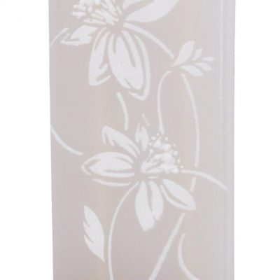 Abstract White Flower Flat Candle