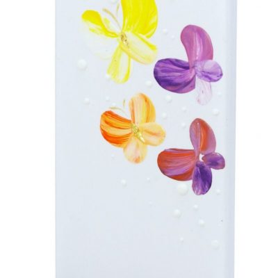 Colorful Butterflies Flat Candle