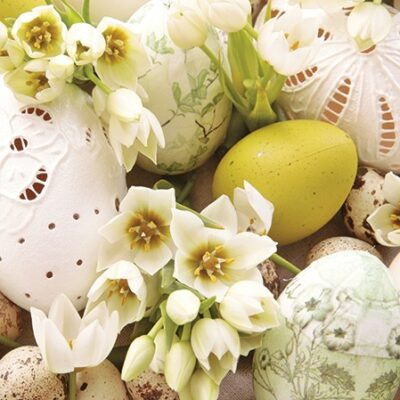 Yellow Easter Luncheon Napkins