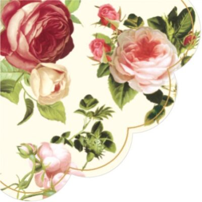 Four-Color Roses Round Paper Napkins