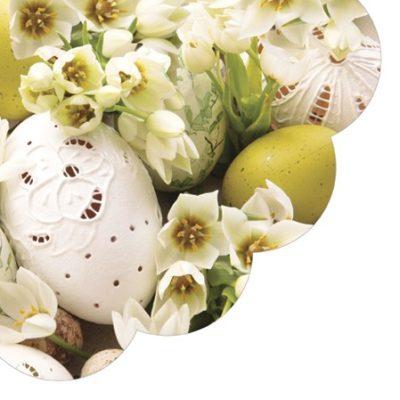 Yellow Easter Round Napkins