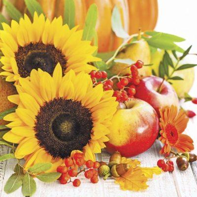 Autumn Composition Luncheon Napkins