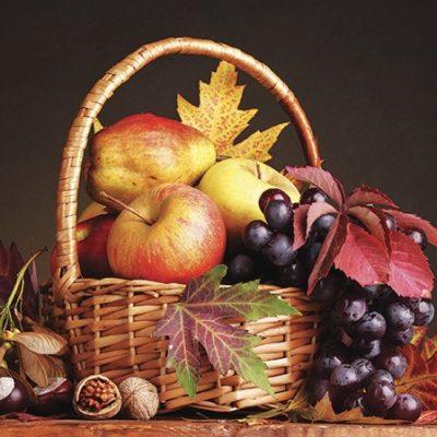 Autumn Basket  Luncheon Napkins