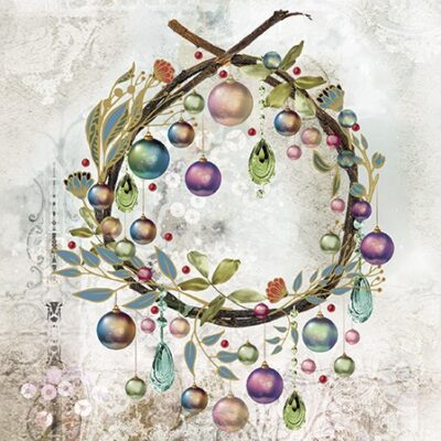 Crystal Baubles Luncheon Napkins