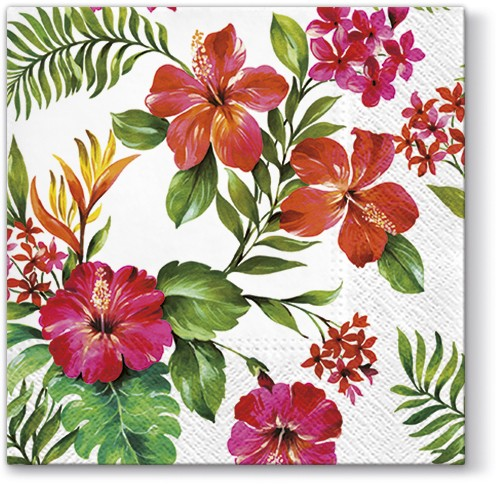 Hawaiian Flowers Luncheon Napkins European Excellency