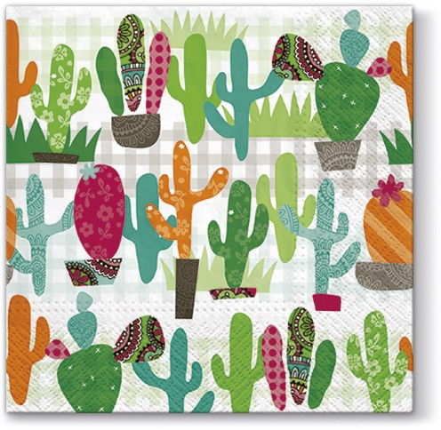 Cactus Garden Luncheon Napkins | European Excellency