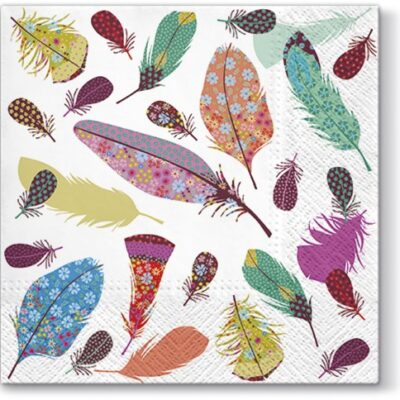 Delicate Feathers Luncheon Napkins