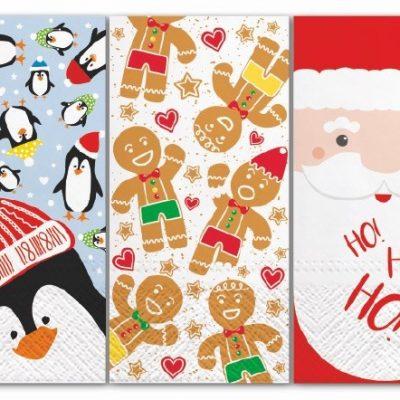 Pocket Facial Tissues Mix6 Christmas - 3 Packs