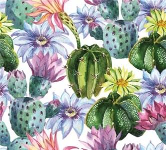 Watercolor Cactus Luncheon Napkins