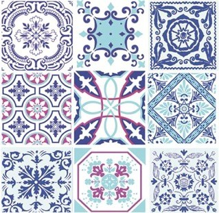 Moroccan Tiles Luncheon Napkins