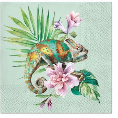 Exotic Chameleon Luncheon Napkins